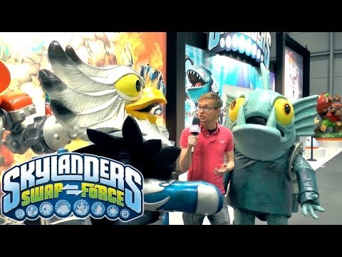Jet Vac & Gill Grunt in Skylanders 4 Toy Fair Scoop - YouTube thumbnail