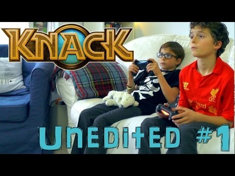 Knack 3-1 Brother's First Go On PS4 – Unedited Family Let's Play #1