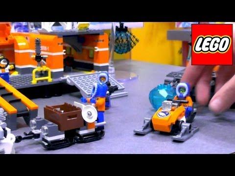 Lego City Arctic – 60033 Arctic Ice Crawler / 60034 Arctic Helicrane / 60035 Arctic Outpost - YouTube thumbnail