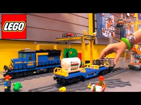 Lego City Trains Review – 60052 Cargo Train / 60051 High Speed Passenger Train / 60050 Train Station - YouTube thumbnail