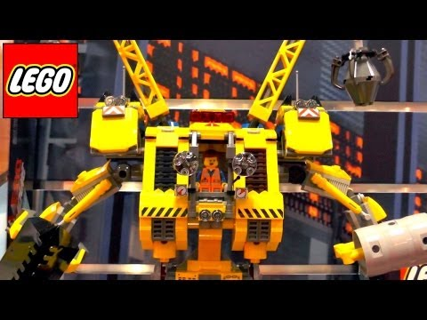 Lego Movie Kits – 70814 Emmet's Mech 70815 Secret Police Dropship 70816 Benny's Spaceship - YouTube thumbnail