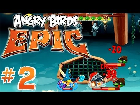 Let's Play Angry Birds Epic #2 – Hats, Banana Juice, Crafting, Magic Items - YouTube thumbnail