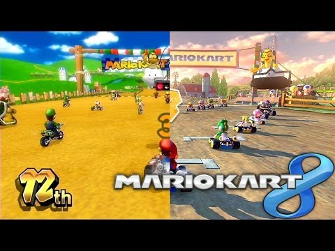Mario Kart 8 Wii vs Wii U Comparison – Moo Moo Meadows - YouTube thumbnail
