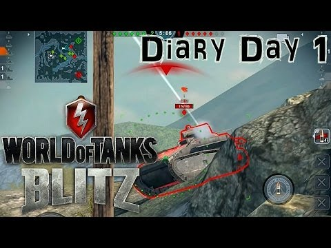 World of Tanks Blitz – Let's Play Battle Diary Day 1 - YouTube thumbnail