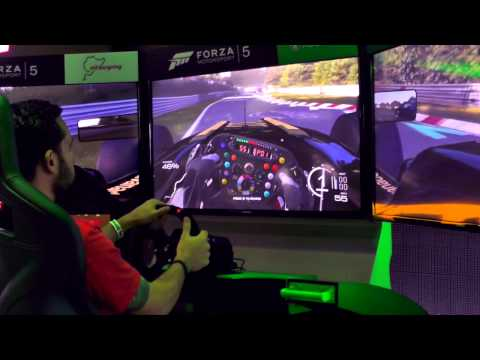 Forza Motorsport 5 – Multiple-Triple Screen Set-Up - YouTube thumbnail
