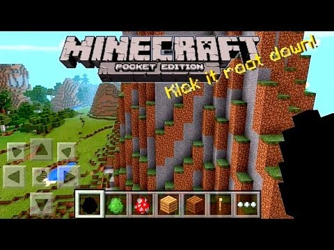 Let's Play Minecraft Pocket Edition 0.90 – Infinite Worlds, Biomes - YouTube thumbnail