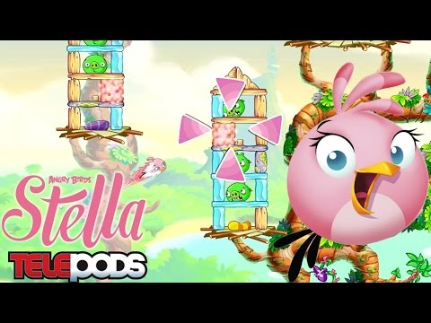 Angry Birds Stella Game-Play & Telepods - YouTube thumbnail