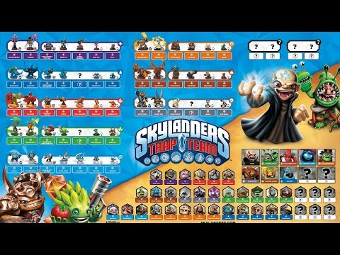 HUGE Trap Team Reveal: 16 Trap Masters, 18 Core Skylanders, 16 Minis, 46 Villains - YouTube thumbnail