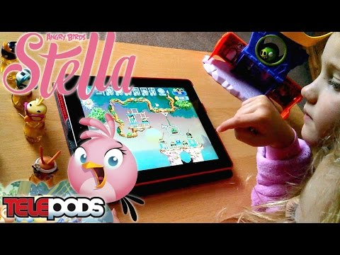 "Angry Birds Stella ""Birds Rock Together"" Telepod Toys Unboxed - YouTube thumbnail"