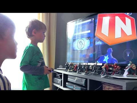 Kids Play Disney Infinity 2.0 Marvel The Avengers Play-Set - YouTube thumbnail