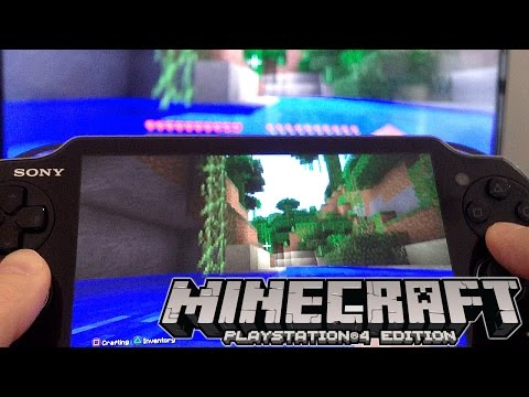 Minecraft PlayStation 4 Review: Vita Remote Play, Split Screen - YouTube thumbnail