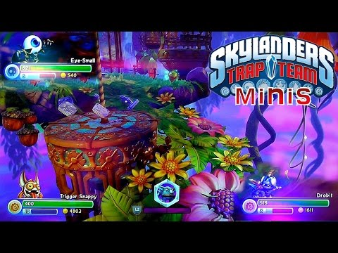 Skylanders Trap Team Minis Eye Small, Trigger Snappy and Drobit - YouTube thumbnail