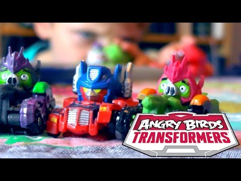 Angry Birds Transformers Toys – Optimus Prime Bird Raceway Unboxed - YouTube thumbnail
