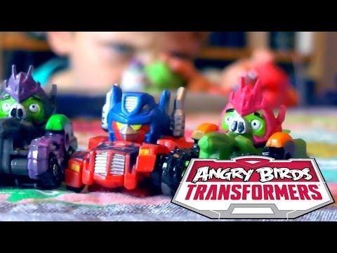 Angry Birds Transformers Toys – Optimus Prime Bird Raceway