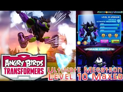 Let's Play Angry Birds Transformers – Ultimate Megatron Upgrades Maxed - YouTube thumbnail