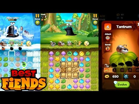 Let's Play Best Fiends #2 – Characters, Levelling, Elements - YouTube thumbnail