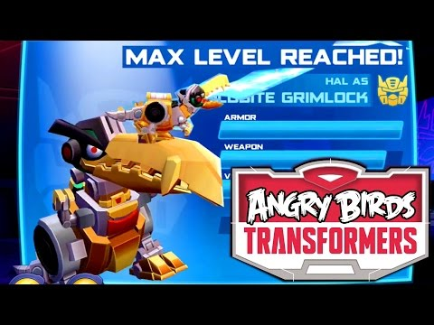 Let's Play Angry Birds Transformers – Goldbite Grimlcok Maxed with Gem Glitch - YouTube thumbnail