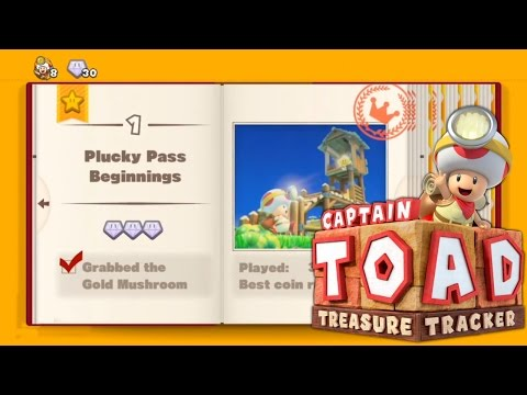 Let's Play Captain Toad: Treasure Tracker – Book 1 Toad - YouTube thumbnail