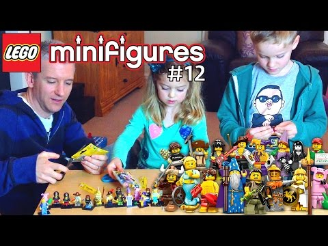 Dad & Kids Lego Minifigures Series 12 Complete Unboxing - YouTube thumbnail