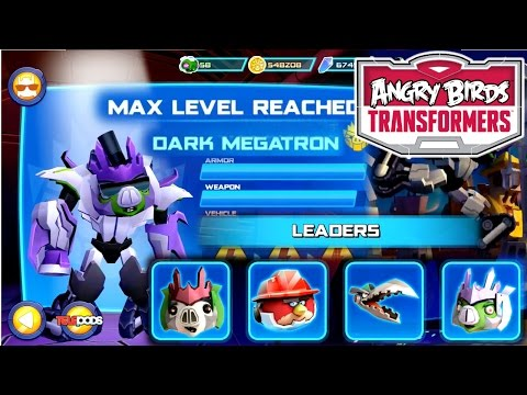 Let's Play Angry Birds Transformers: Level 10 Dark Megatron (3000 Pig) Spree! - YouTube thumbnail