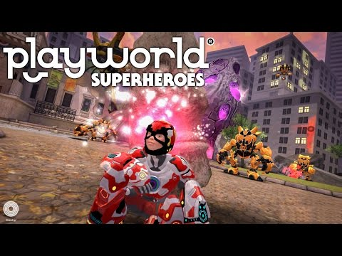 Let's Play Playworld Superheroes – (Part 2) Upgrading Weapons & Hero Suit - YouTube thumbnail