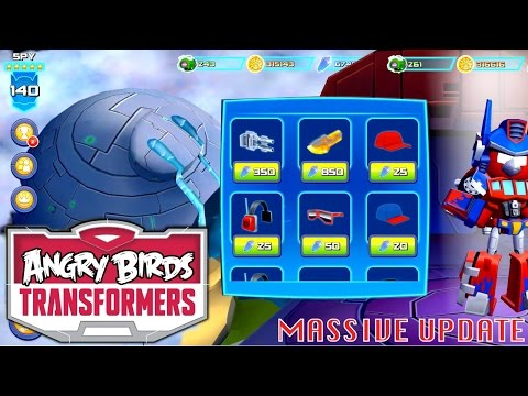 Let's Play UPDATED Angry Birds Transformers – Levels, Squads, Outfits, Grey Slam Grimlock (v1.3.18) - YouTube thumbnail