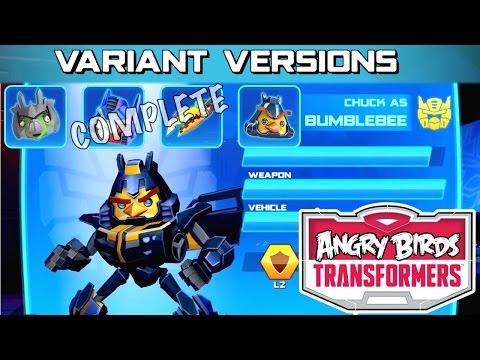 Let's Play Updated Angry Birds Transformers –  Variant Versions Squad Complete - YouTube thumbnail