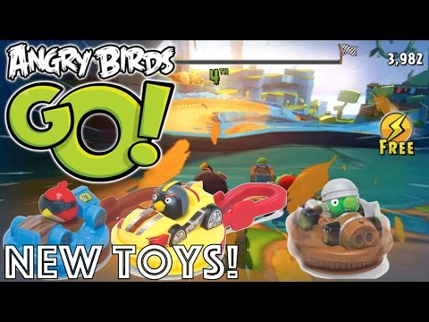 Let's Play with New Angry Birds Go! & Stella Burger King Toys - YouTube thumbnail