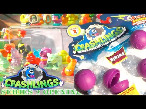Crashlings Series 2 – Opening Fail with Bots, Explorers, Beasts, Dragons & Ninjas Preview - YouTube thumbnail