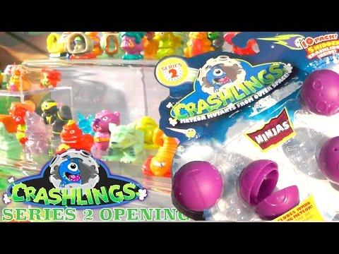 Crashlings Series 2 – Opening Fail with Bots, Explorers, Beasts, Dragons & Ninjas Preview - YouTube thumbnail