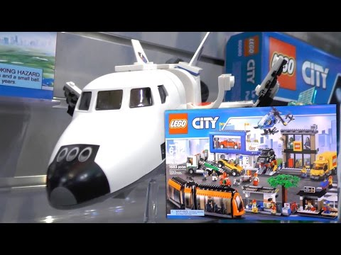 LEGO City 2015 Sets – Demolition, Swamp Police, Space Port, Transport, Sea (New York Toy Fair) - YouTube thumbnail