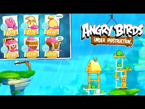 Angry Birds Under Pigstruction – Let's Play #1: First 30 Mins & In-App Purchase Analysis - YouTube thumbnail