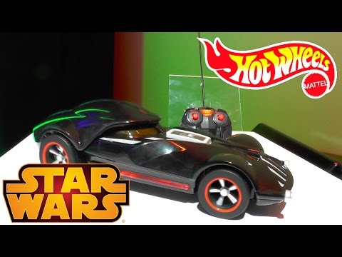 Hot Wheels – Star Wars Epsiode VII The Force Awakens Cars Conformed, R/C Vadermobile - YouTube thumbnail