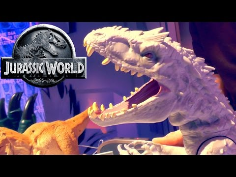 Jurassic World – Indominus Rex (Lights, Sounds, Spring Actions) - YouTube thumbnail