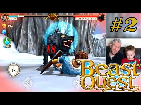 Let's Play Beast Quest – Part 2: Triple Wolf Fights - YouTube thumbnail