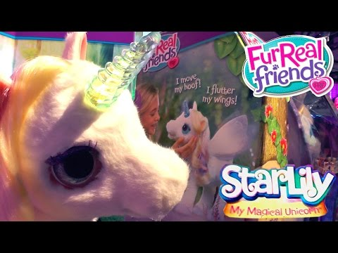 Star Lily Animatronic Unicorn (Lights, Speech and Motion) Fur Real Friends - YouTube thumbnail