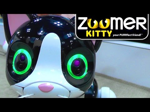Zoomer Kitty – Robot Cat Vision, Touch, Tremble, Lights and Purrs - YouTube thumbnail