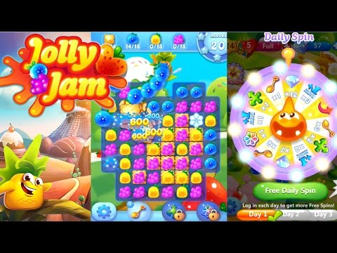 Let's Play Jolly Jam #1 – First 20 Minutes of Candy Crush style game from Rovio - YouTube thumbnail