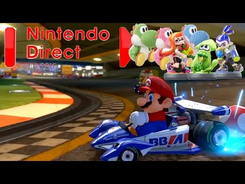 Nintendo Direct April: 10 Minute News Blast  (220cc Mario Kart, Wooly Amiibo, Amiibo Cards) - YouTube thumbnail