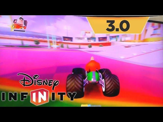 "Disney Infinity 3.0 Toy Box Speedway ""Sugar Rush"" Track & Hub World Upgrades"