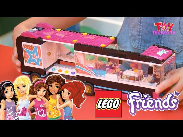 LEGO Friends Pop Star Review 41106 Tour Bus, 41105 Stage