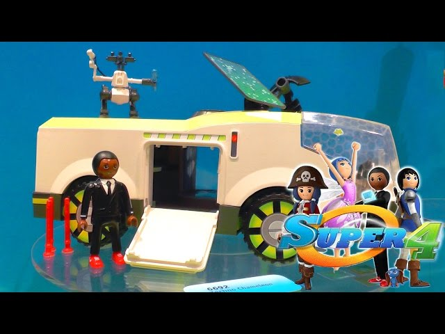 "Playmobil ""Super 4″ Toys Unboxed For TV Show"