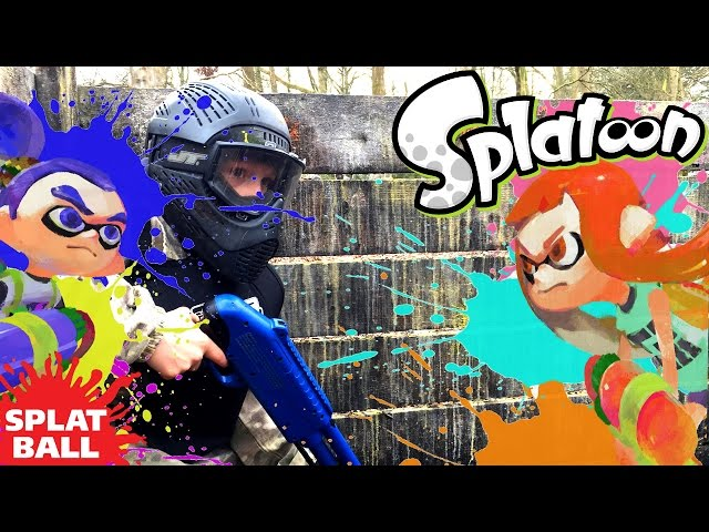 Splatoon Father & Son Battle (w/ Bonus Splat-Ball & Weapons Test)