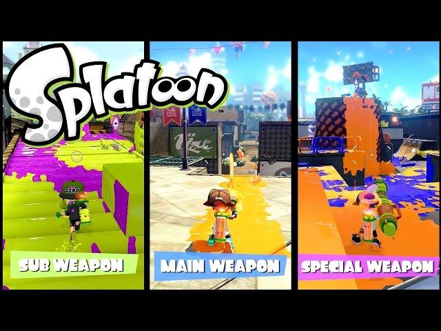 Splatoon Wii U Weapon Loadouts Analysis & Amiibo Features