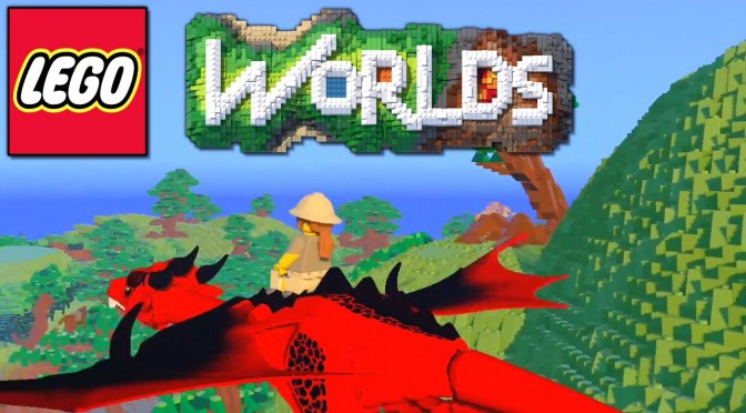 Let's Play LEGO Worlds Part 2 – Son shows dad the ropes