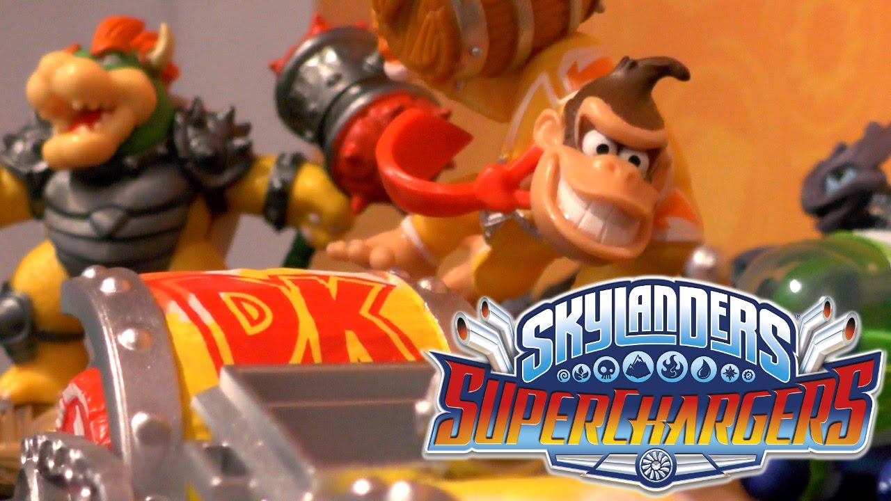 Skylanders Superchargers – Amiibo Donkey Kong & Bowser Wii U Game-Play
