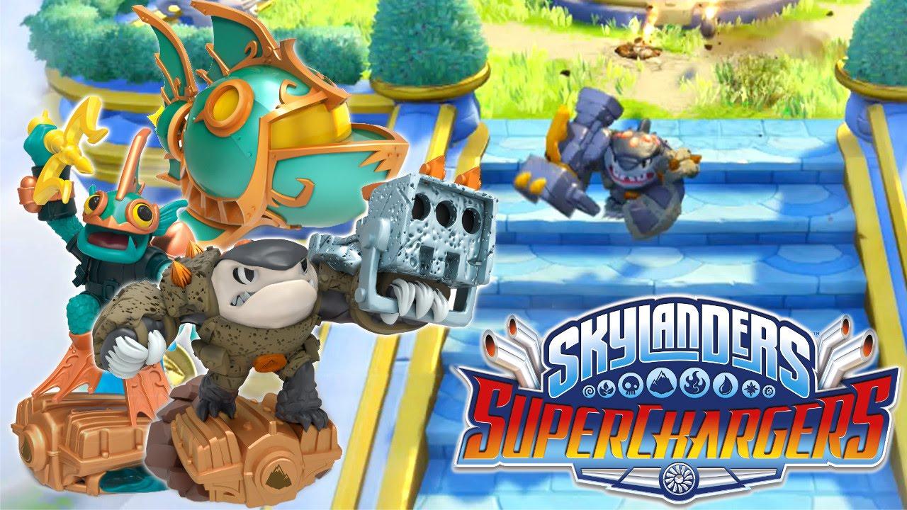 Skylanders SuperChargers – Deep Dive Gill Grunt & Shark Shooter Terrafin