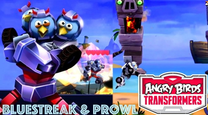 Angry Birds Transformers – Bluestreak, Prowl & Energonicon Tested