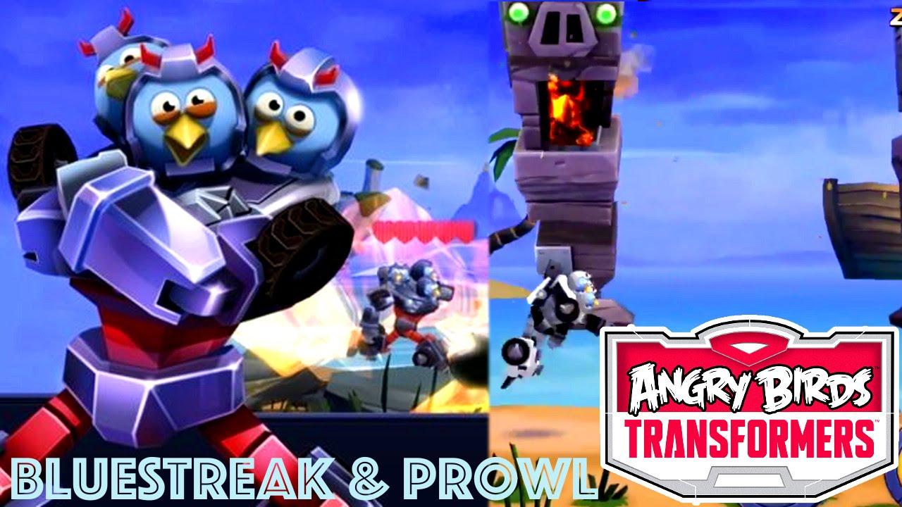 Angry Birds Transformers – Bluestreak, Prowl & Energonicon Tested