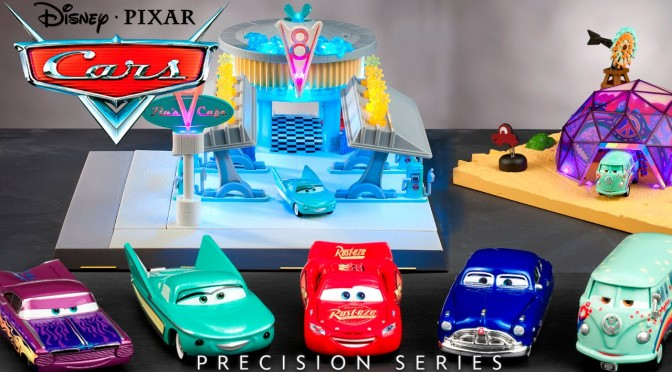 Cars Precision Series – Lightning McQueen, Flo's Café Playset & Filmore's Taste-In